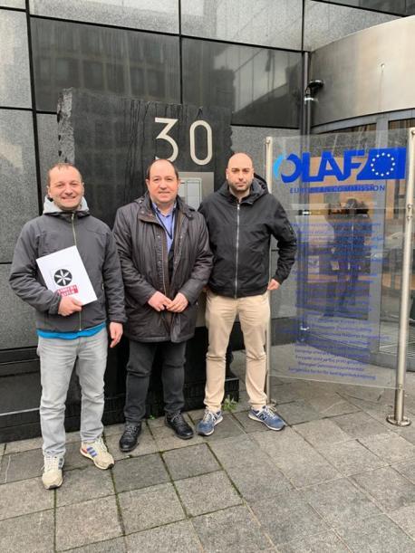 Paulo Arboleya, Pernardo Barrena y Mario Arbesú na OLAF