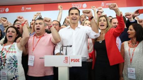 By Marta Jara / eldiario.es (Pedro Sánchez se impone al PSOE del pasado) [CC BY-SA 3.0 es (http://creativecommons.org/licenses/by-sa/3.0/es/deed.en)], via Wikimedia Commons