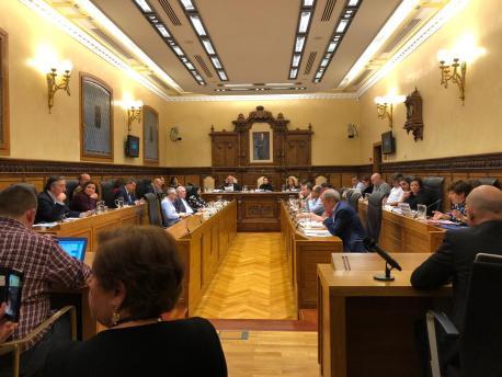 Plenu de Xixón declaración institucional sofitu al SNL