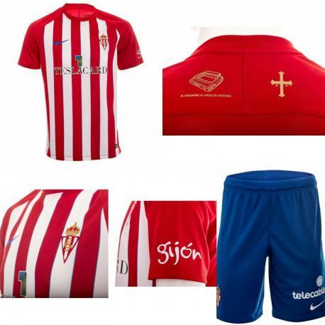 El Sporting presenta la equipación d'esti añu