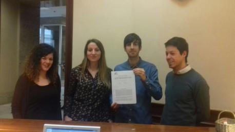 Sofía Castañón, Lucía Montejo, Eduardo Maura y Segundo González proposición IBI horros