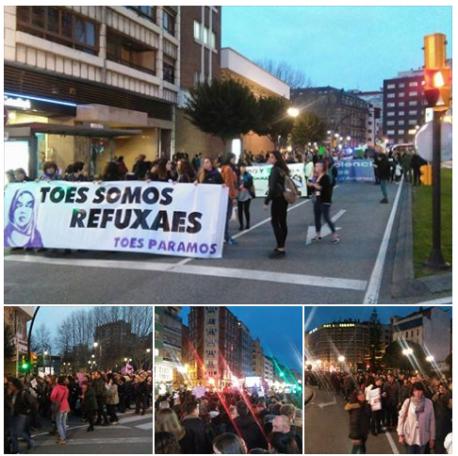 Día Internacional de la Muyer 2017 'Toes somos refuxaes'