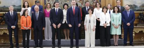 Toma de posesión del Gobiernu de Pedro Sánchez na Zarzuela