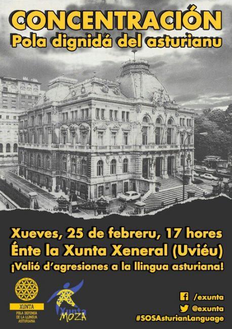 Concentración pola Dignidá del Asturianu 250216