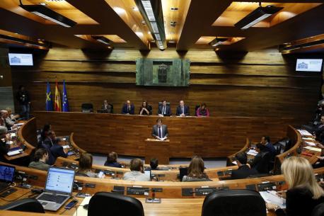 La oficialidá, presente nel Alderique d'Orientación Política Xeneral