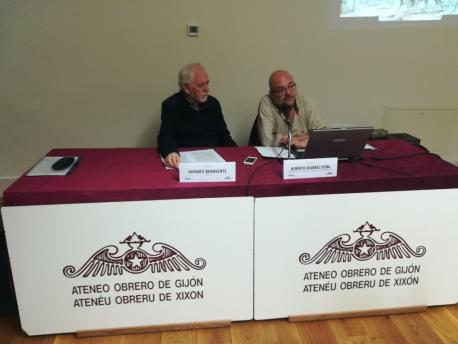 Amadéu Benavente y Alberto Álvarez Peña charra Ástura Cuadonga