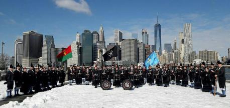 """Tocar l'himnu en Times Square emocionó a muncha xente, comenzado por nosotros"", asegura Vítor Carbajal"