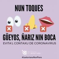Cartelu 'Nun toques' Iniciativa pol Asturianu