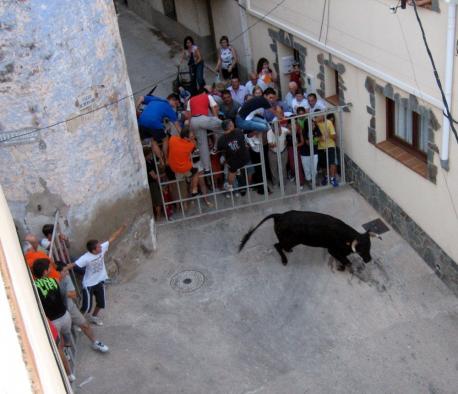 Festexu popular con toros n'Alfara de Carles