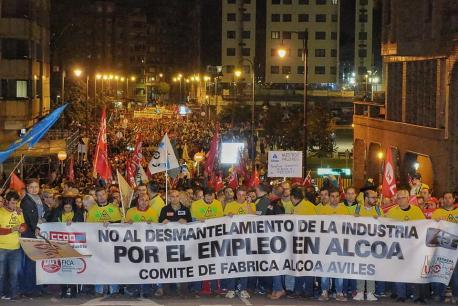Manifestación Alcoa Avilés