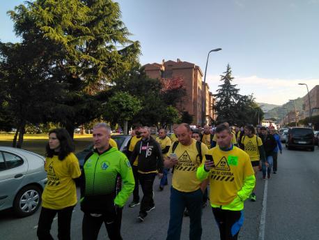 Marcha trabayadores d'Alcoa a Madrid