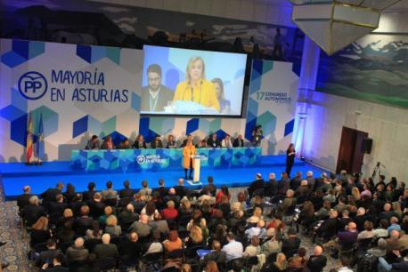 Mercedes Fernández ye reelixida presidenta del PP col apoyu del 96 por cientu de los compromisarios