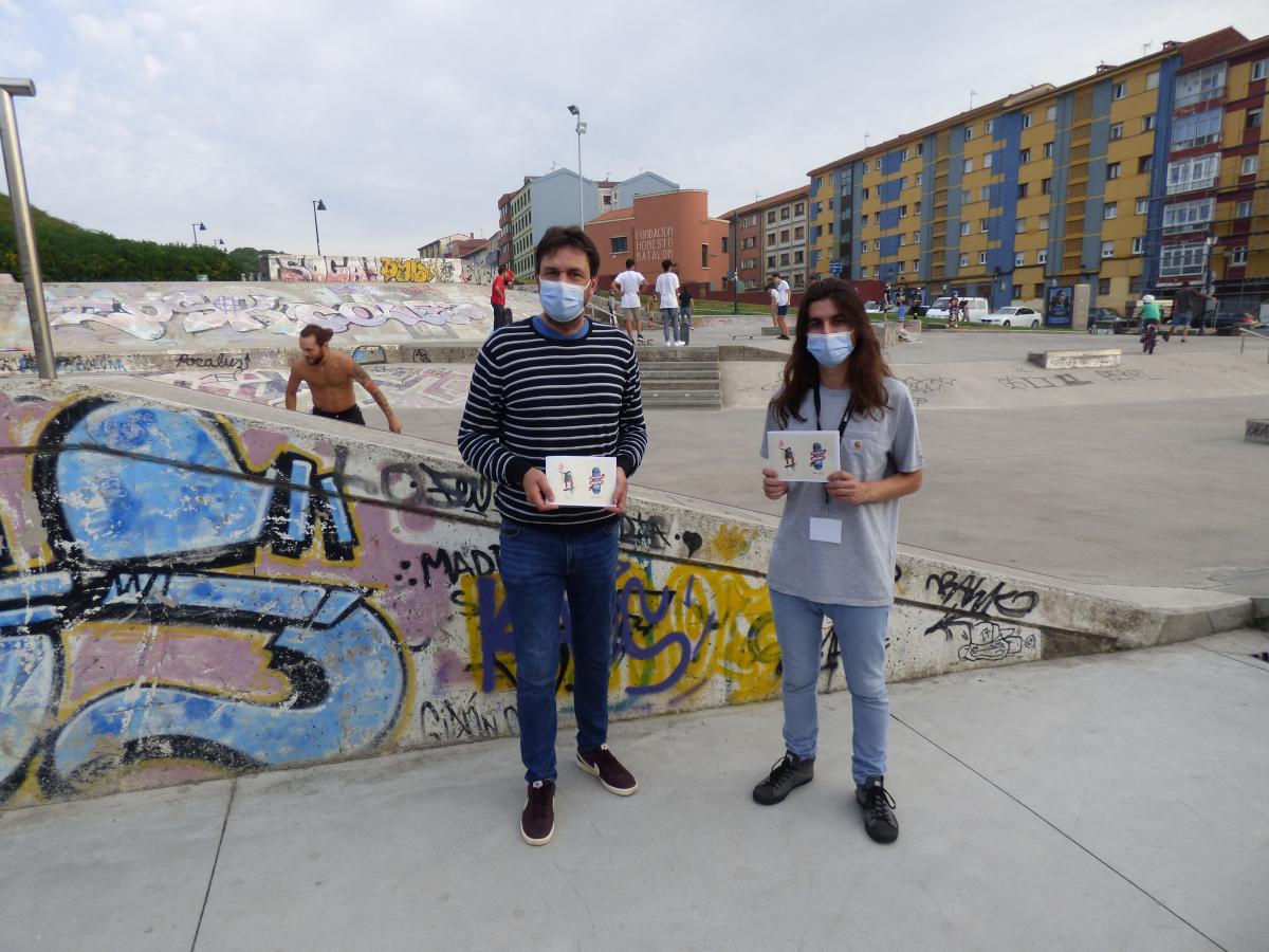 Alberto Ferrao y Mateo Rodríguez García presentación 'El Pallabreru del Skate'