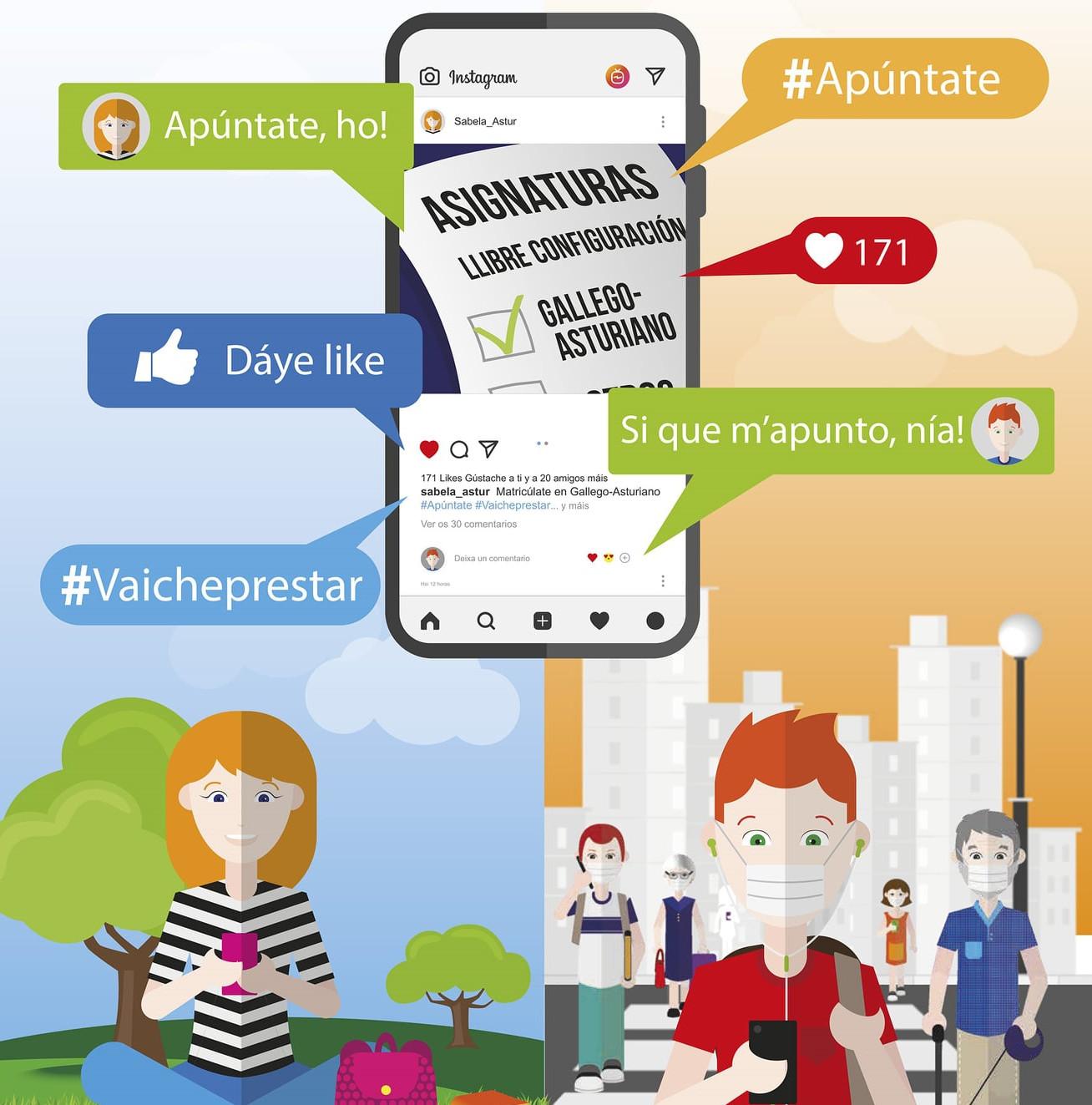 Cartelu campaña #Apúntante 2021 gallego-asturiano recortada