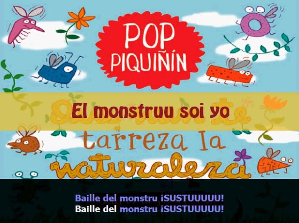 Karaoke 'El monstruu soi yo' Pop Piquiñín