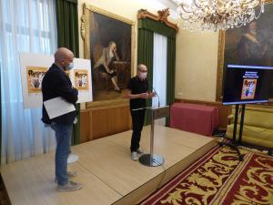 Miguel Barrero y David Guardado presentación del VIII Día de la Reciella