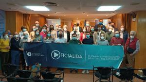 Sofitu oficialidá Día de les Lletres Asturianes en Madrid 2021