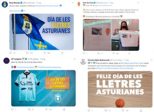 Tweets XLII Día de les Lletres Asturianes