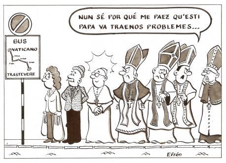 La humildá del Papa