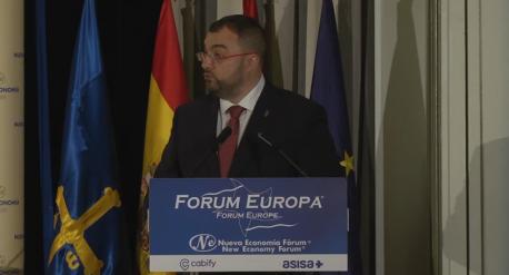 Adrián Barbón en Fórum Europa