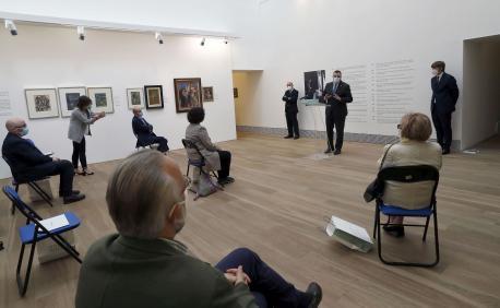 Adrián Barbón inauguración esposición Orlando Pelayo