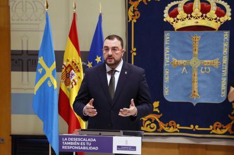 Adrián Barbón rueda de prensa coronavirus 13 de xunu