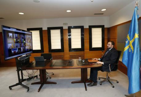 Adrián Barbón videoconferencia de presidentes 7 de xunu