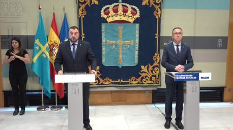 Adrián Barbón y Pablo Ignacio Fernández Muñiz coronavirus Xarrio