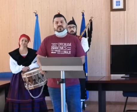 Aitor García Corte XXIV Fiesta de la Oficialidá de la Llingua Asturiana de Bimenes