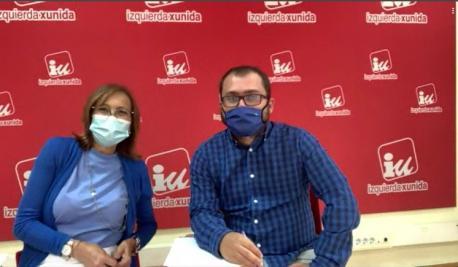 Ángela Vallina y Víctor Suárez frontal alcuentru telemáticu IX-Iniciativa pol Asturianu
