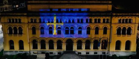 Bandera en Presidencia pol 25 de mayu