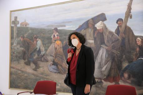 Berta Piñán nel Muséu de Belles Artes
