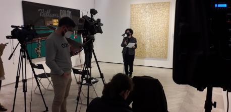 Berta Piñán nel Muséu de Belles Artes d'Asturies