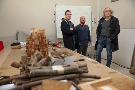 Borja Jiménez-Alfaro, José Valentín Roces y Pedro Álvarez-Álvarez castañal autóctona