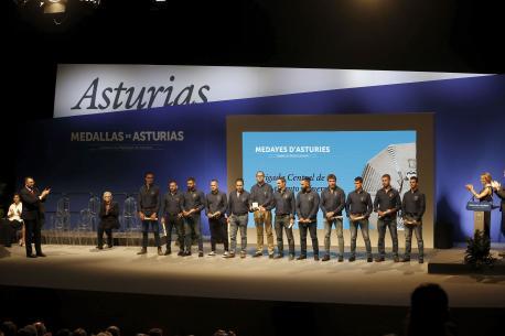Brigada Central de Salvamentu Mineru entrega medayes d'Asturies 2019