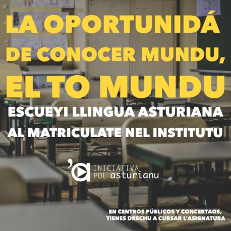 Campaña matriculación Iniciativa pol Asturianu