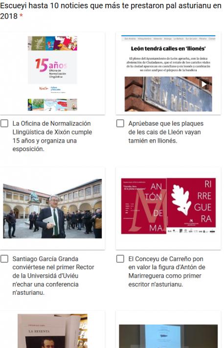 Captura 'Meyor Noticia pal Asturianu en 2018'