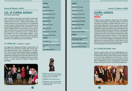 Captura programa del XXX Salón de Teatru Costumista Asturianu