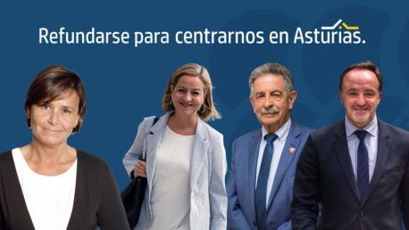 Carmen Moriyón, Ana Oramas, Miguel Ángel Revilla y José Javier Esparza IV Congresu de Foro
