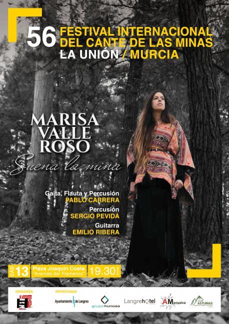 Cartelu Marisa Valle Roso nel Festival Internacional del Cante de las Minas