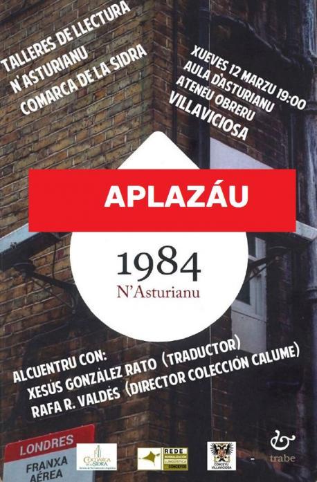 Cartelu alcuentru con llectores Villaviciosa '1984' aplazáu