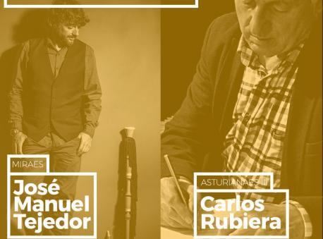 Cartelu Amosando José Manuel Tejedor y Carlos Rubiera