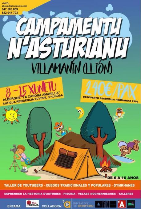 Villamanín va acoyer un campamentu de branu n'asturianu pa neñes y neños de 6 a 16 años