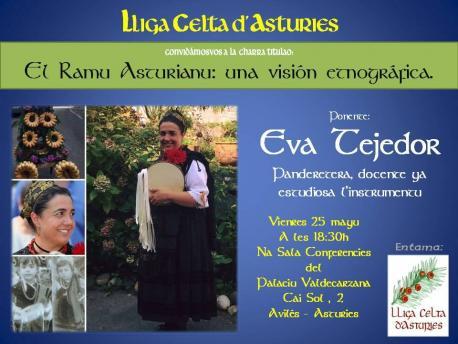 Cartelu charra ramu Eva Tejedor Lliga Celta d'Asturies