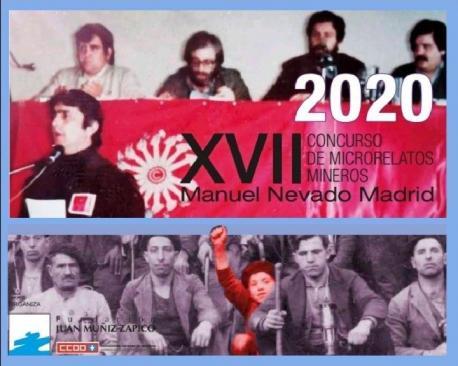 Cartelu del XVII Concursu de Microrrellatos Mineros Manuel Nevado Madrid