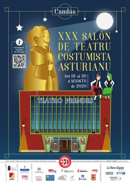 Cartelu del XXX Salón de Teatru Costumista Asturianu
