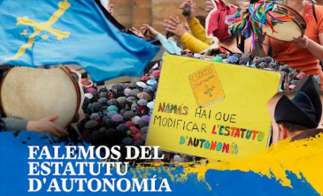 Cartelu 'Falemos del Estatutu d'Autonomía' Escuela Clara Campoamor