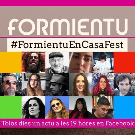 Cartelu #FormientuEnCasaFest ampliación