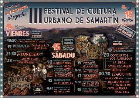 Cartelu III Festival de Cultura Urbano de Samartín