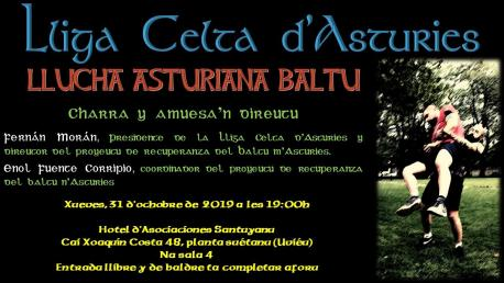 Cartelu llucha baltu n'Uviéu Lliga Celta d'Asturies